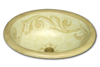 hand painted Acanthus sink