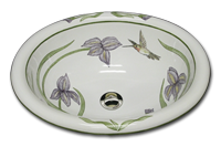 click here for hand painted floral sinks