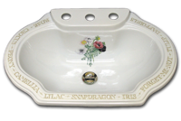 snapdragon lilac peony hand paint sink