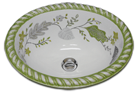 Lacarno Olivine hand painted sink
