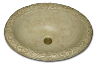 DB-faux-300_Travertine_tone_on_tone_antiqued_rim_matte