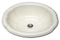 L self rimming fluted sink 17 1/2 x 21 1/2