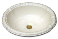 fluted ceramic sink