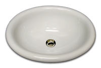 C oval with rounded rim 15 3/4 x 19 1/2