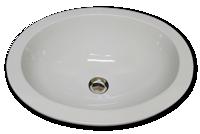 Cu oval with flat rim 15 3/4 x 19 1/2