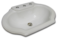 E-79-100 bright white with faucet holes