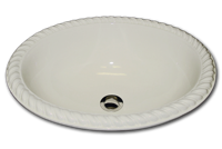 G oval with rope rim 15 3/4 x 19 1/2