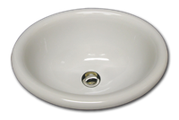 H oval with rounded rim