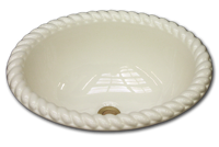 MB oval with grande rope rim 14 1/2 x 17 1/2