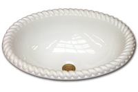 NB oval with grande rope rim 15 3/4 x 19 1/2