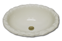 TB Oval with raised sea shell rim 15 3/4 x 19 1/2