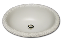 VB oval with raised leaf rim 15 3/4 x 191/2