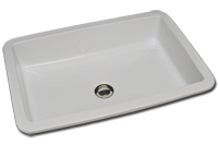 Rectangle sink with straight sides flat bottom