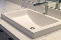 D White Sink