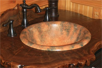 J-cstm-300 hand painted rustic sink