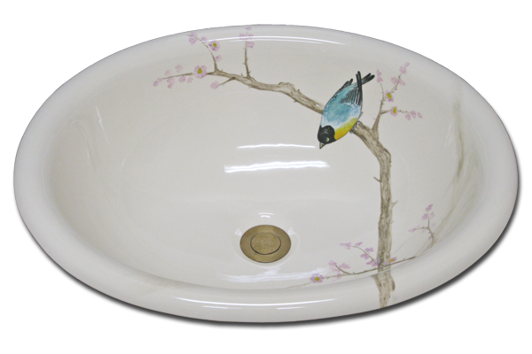 Z 48 500 Bird In Brown Branches Marzi Sinks
