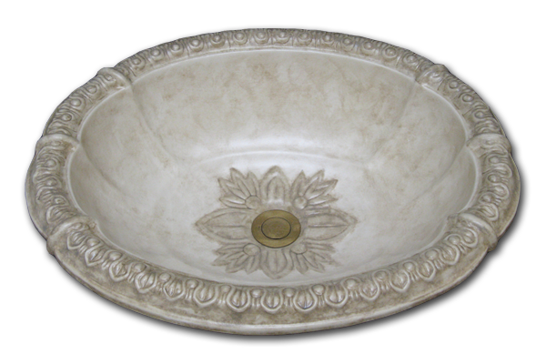 Romanesque rim antique noche sink