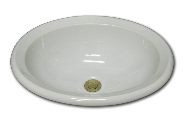 AB: Oval with chamfered rim 15 3/4 x 19 1/2