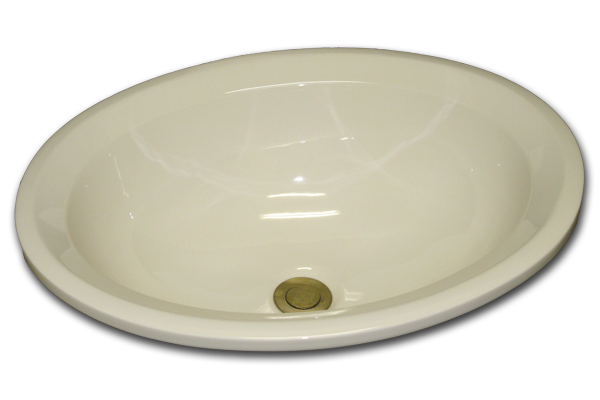 BU: Oval with chamfered flat rim 15 3/4 x 19 1/2