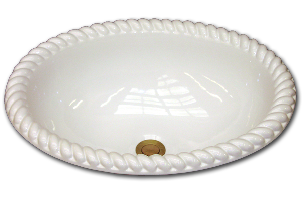 NB: Oval basin with grande rope rim 15 3/4 x 19 1/2