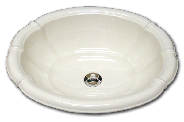 L: fluted oval sink 17 1/2 x 21 1/2