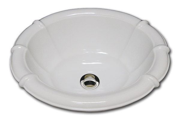 M: fluted oval sink 14 1/2 x 17/ 1/2