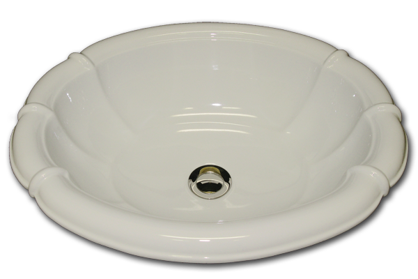 N: fluted oval sink 16 x 19 1/2