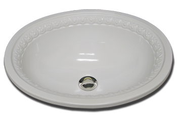 sink bathroom self rimming oval