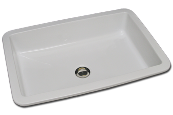 bathroom sink self rimming rectangle