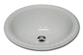 bathroom sink rope rim classic design