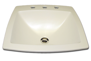 bathroom sink with faucet holes