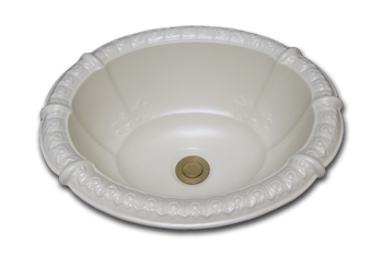 self rimming bathroom sink fluted
