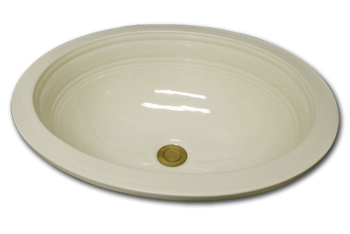 bathroom sink under mount clean lines traditional oval